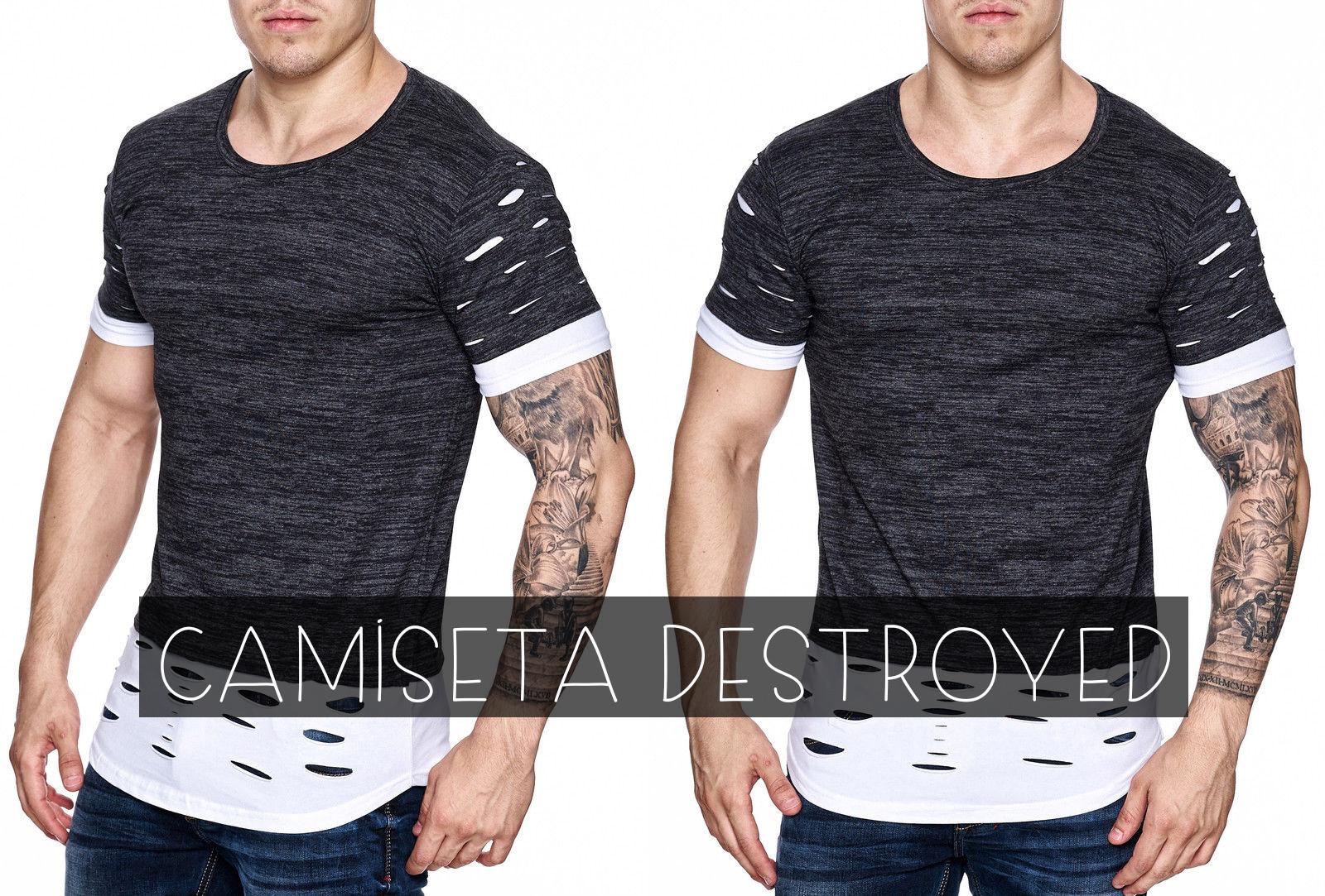 Camiseta Destroyed  Vista-se com estilo e atitude - Marco da Moda cdbfd5c1e14