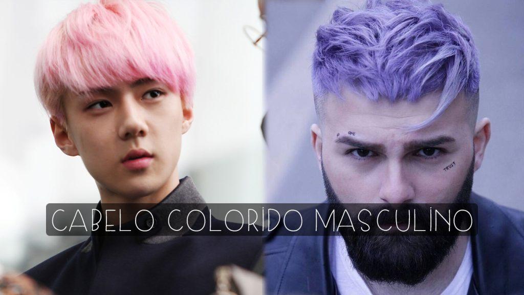cabelo colorido masculino 2018
