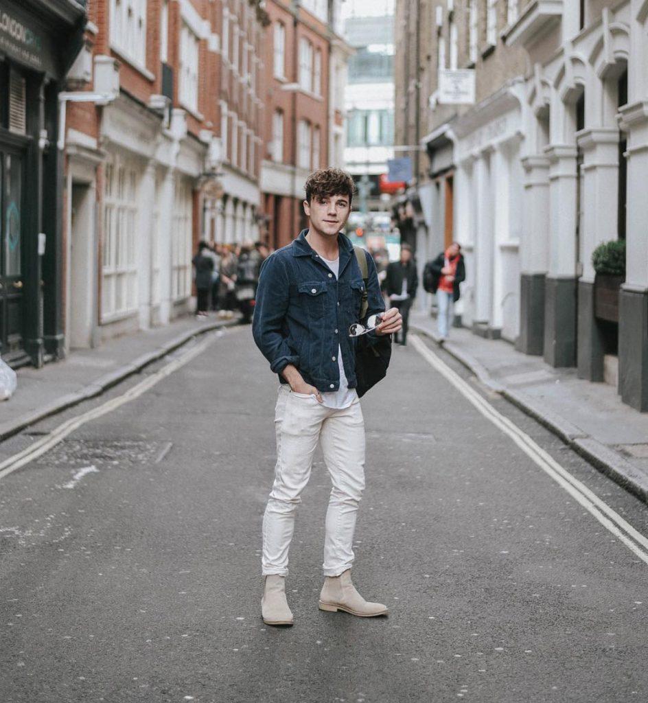 look com jaqueta jeans masculina