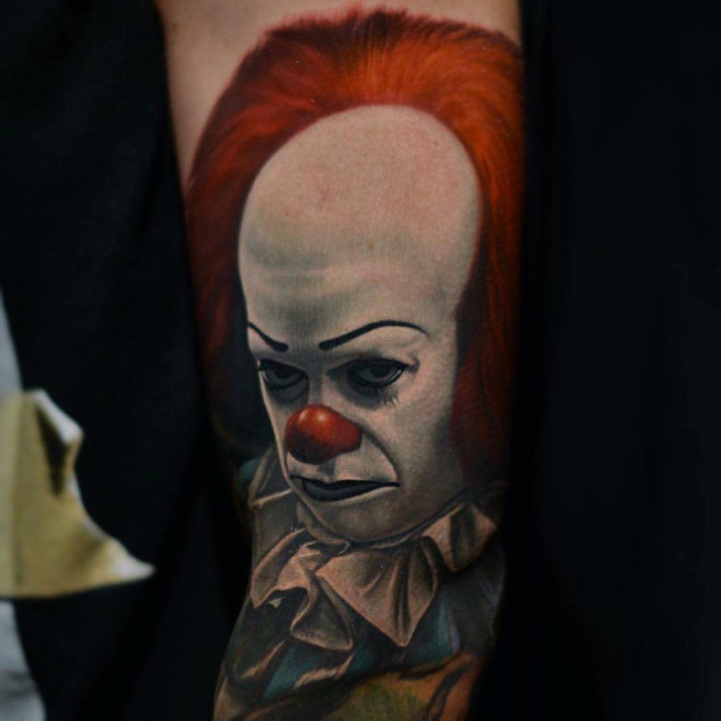 Tatuagem realista do It A Coisa