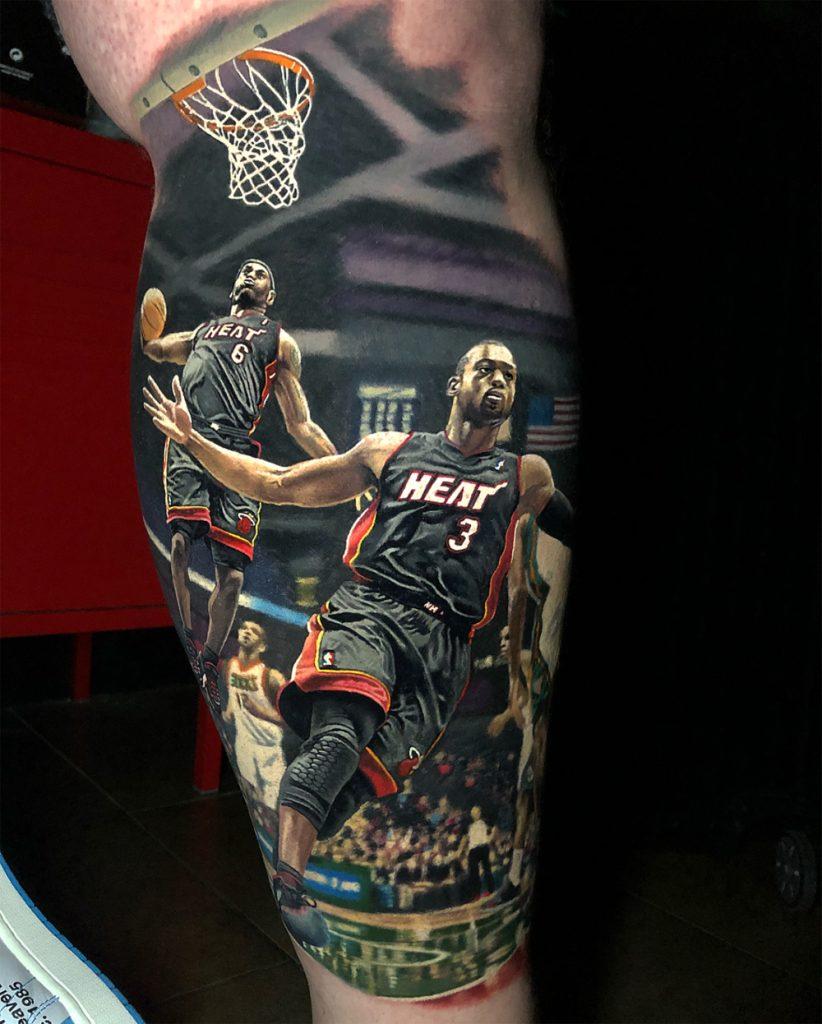 Tatuagem realista do LeBron James
