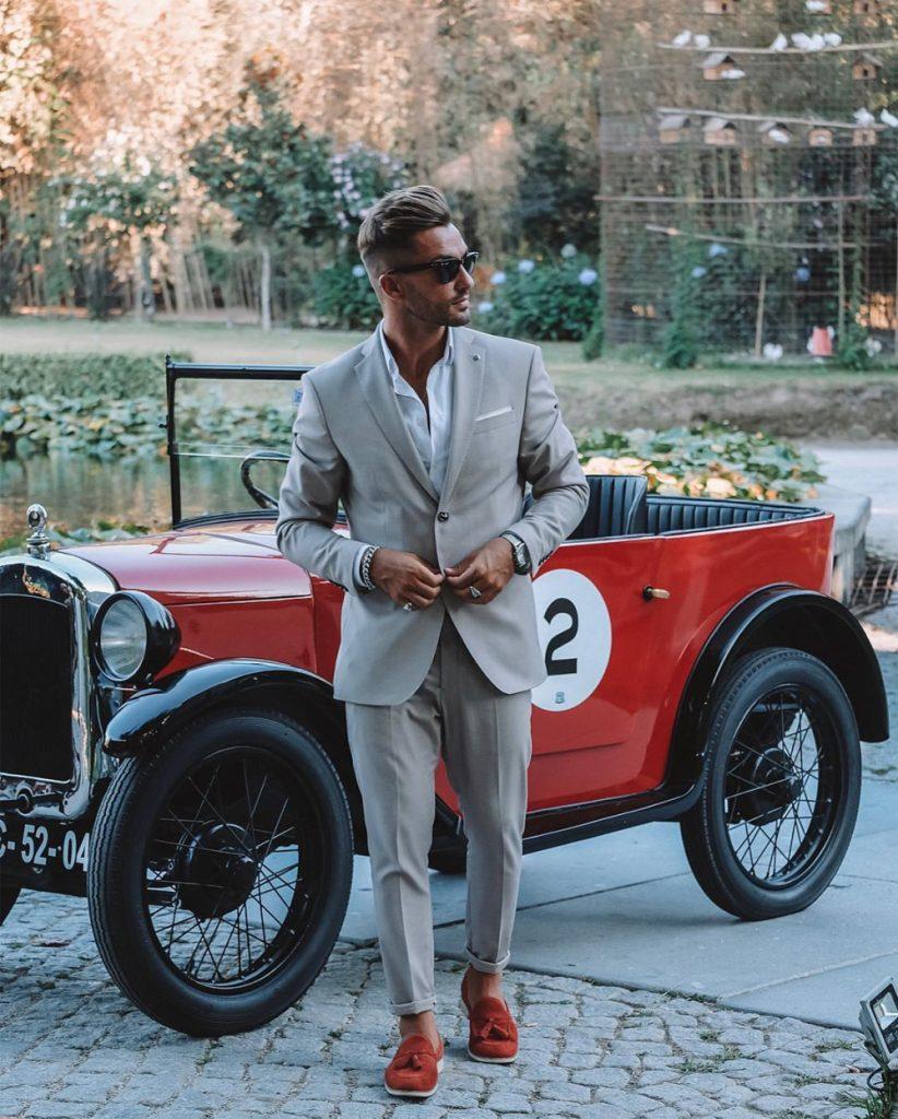 Costume masculino roupa social ajustada