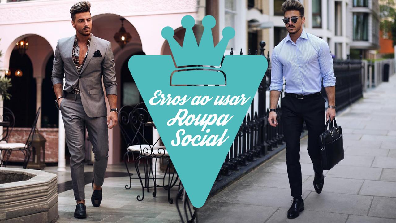 erros que os homens cometem ao usar roupa social