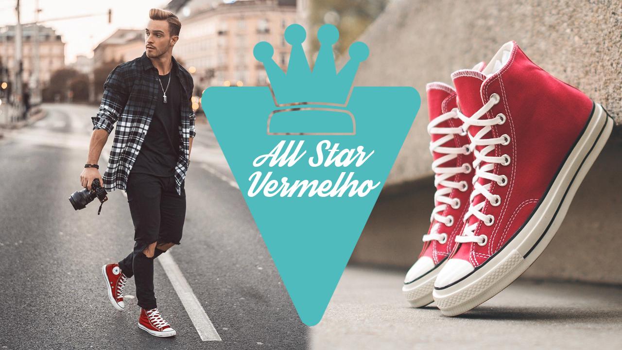 ea6b359b8314 All Star vermelho  Looks masculinos para combiná-lo - Marco da Moda