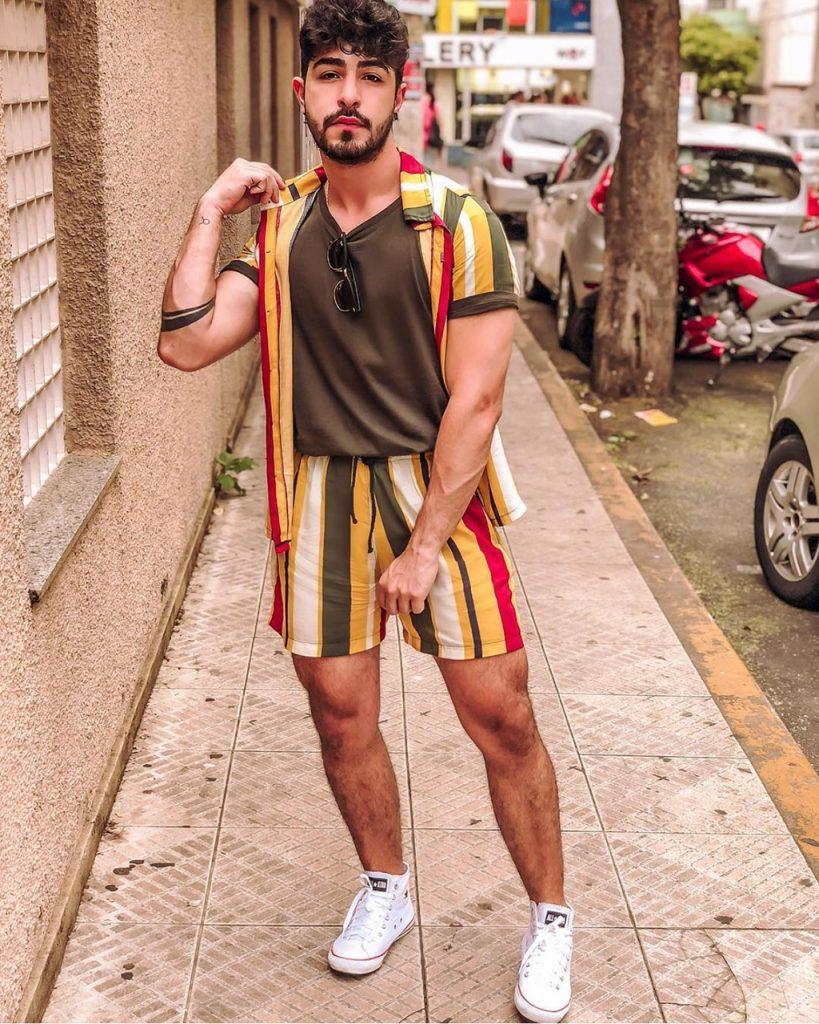 Conjunto masculino estampado verão 2019