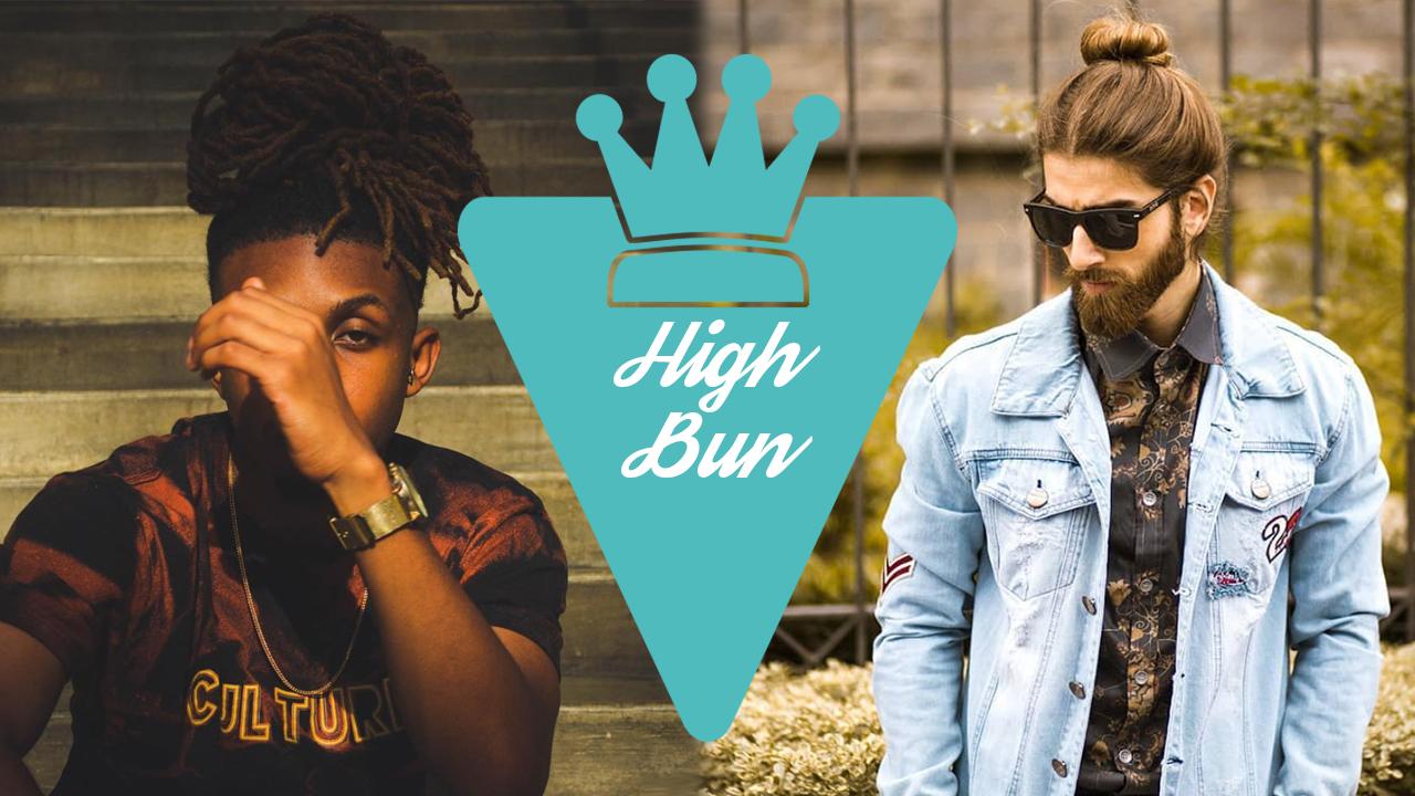 Penteado High Bun masculino