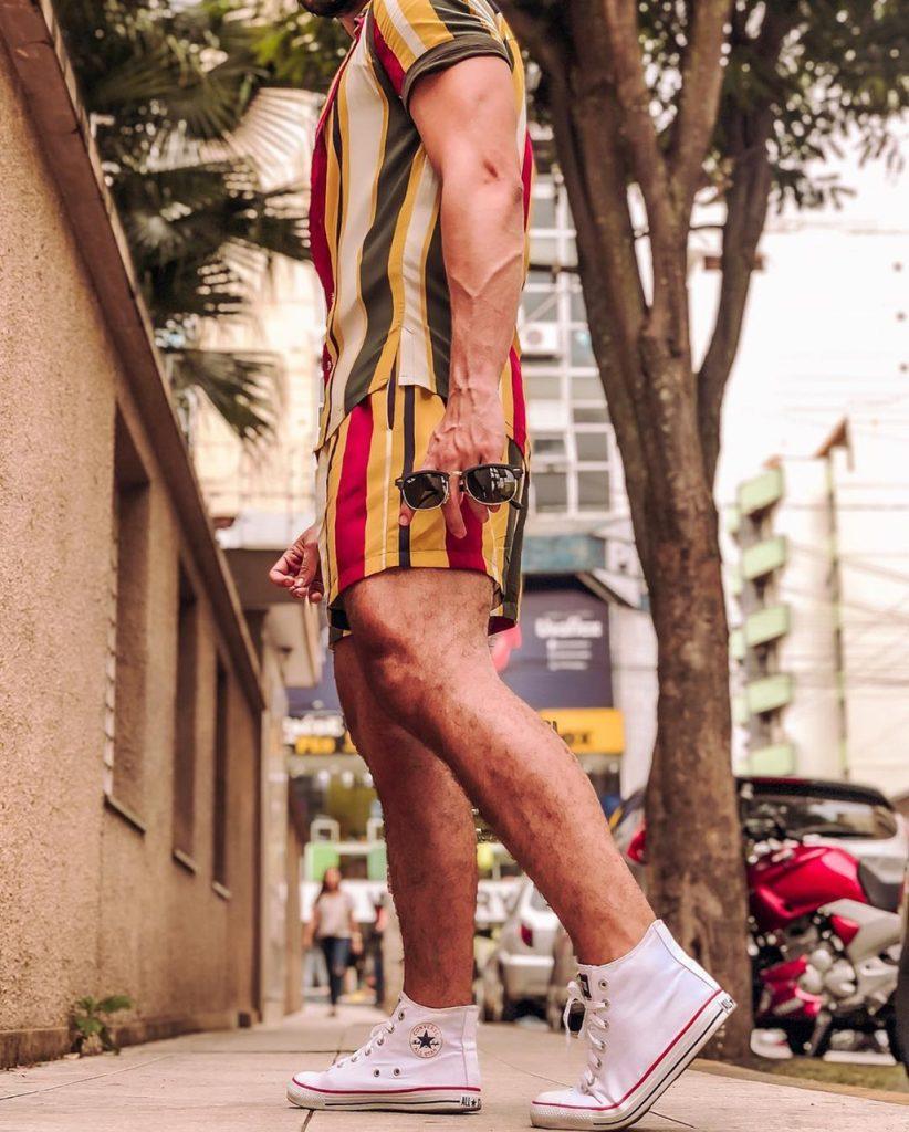 Moda para homens: conjunto masculino estampado