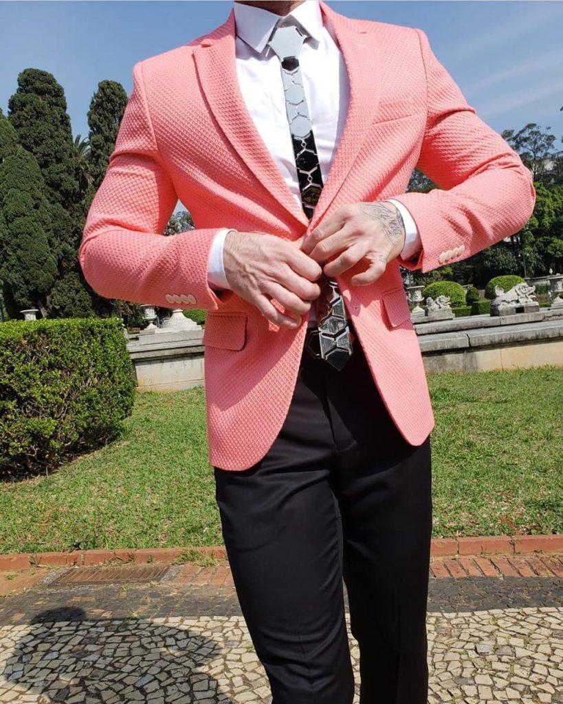 Blazer masculino Living Coral