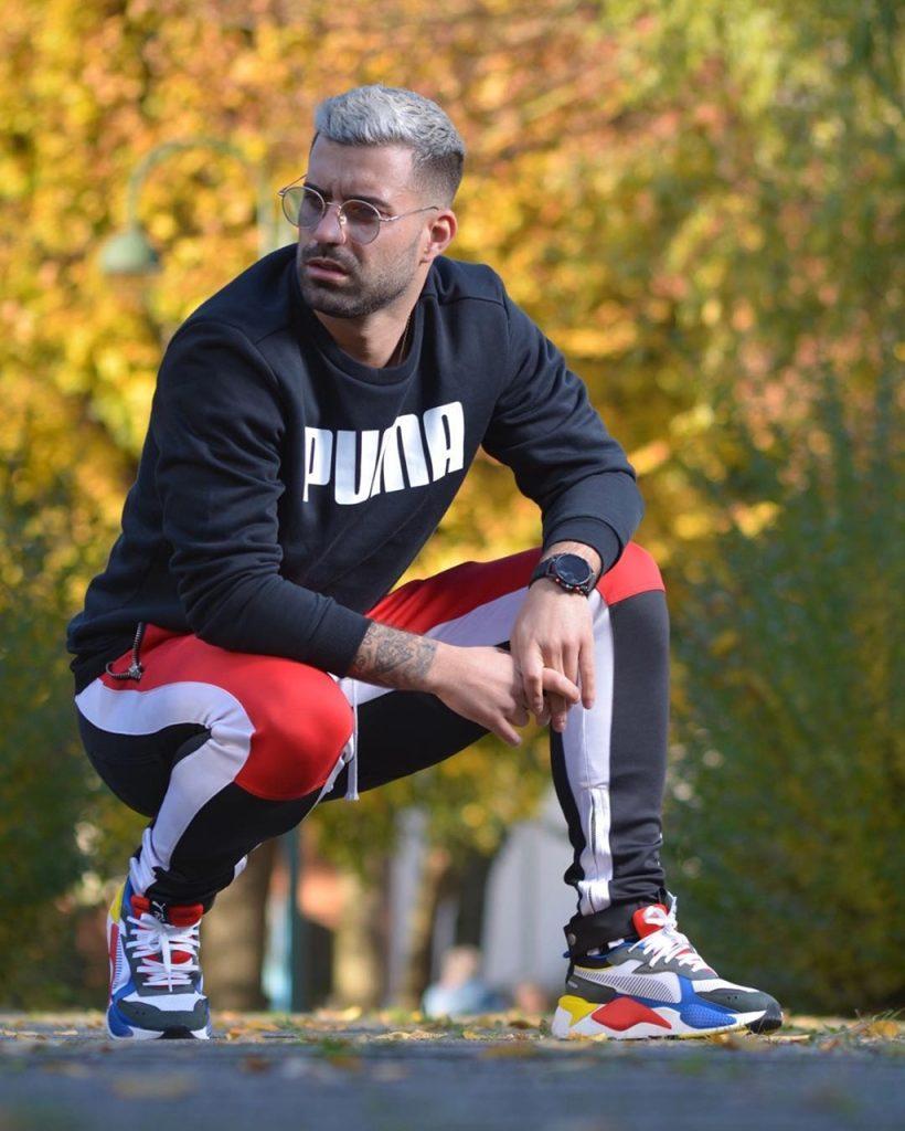 Look masculino esportivo com tênis Puma