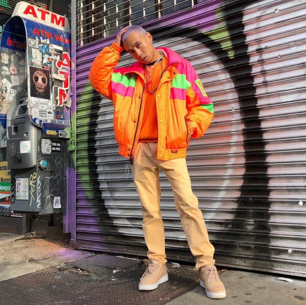 Jaqueta neon masculina