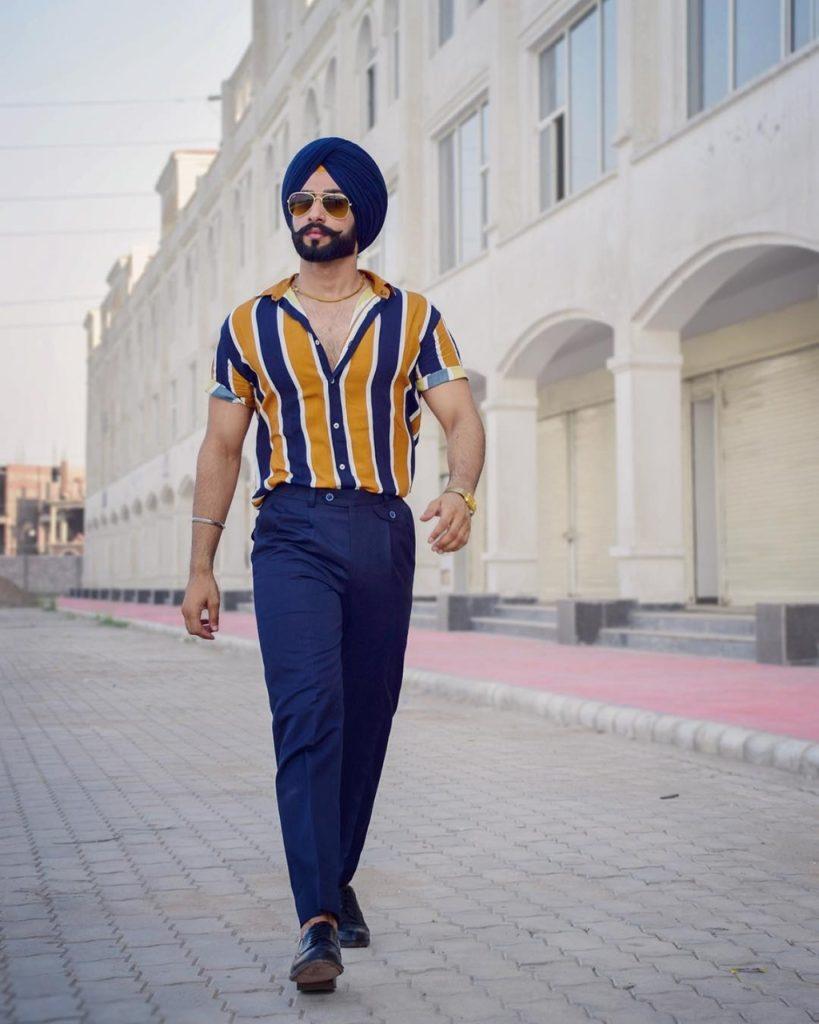 Homem indiano com turbante