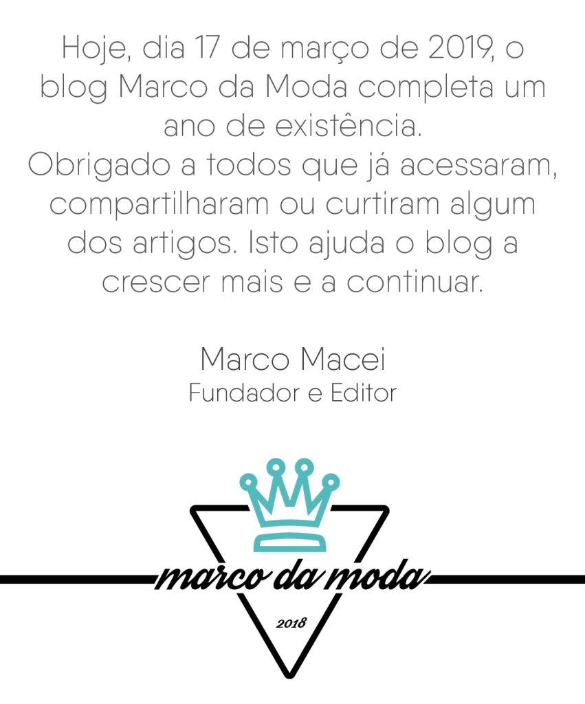 Aniversário do blog Marco da Moda