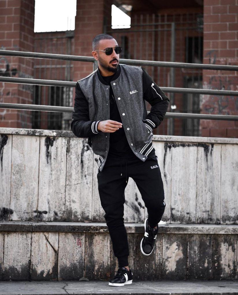 Moda masculina: jaqueta Varsity masculina