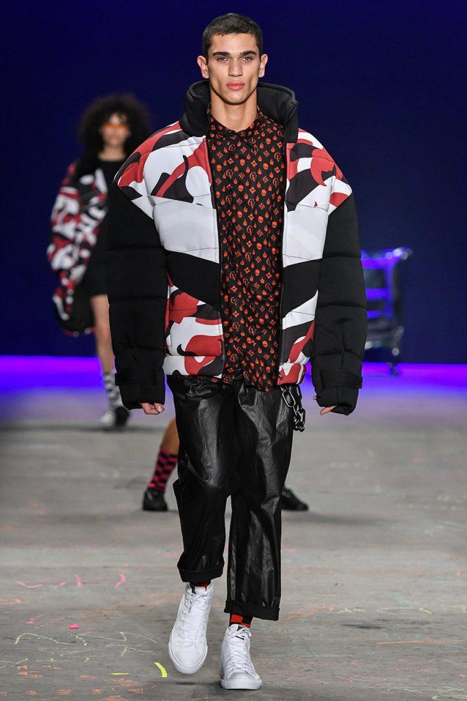 Moda masculina: jaqueta doudoune camuflada da Cavalera
