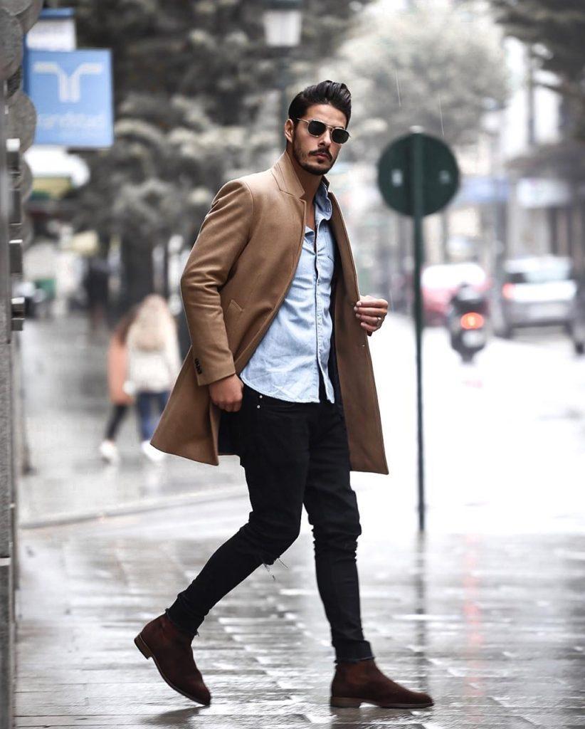 Dica de moda masculina: sobretudo camelo