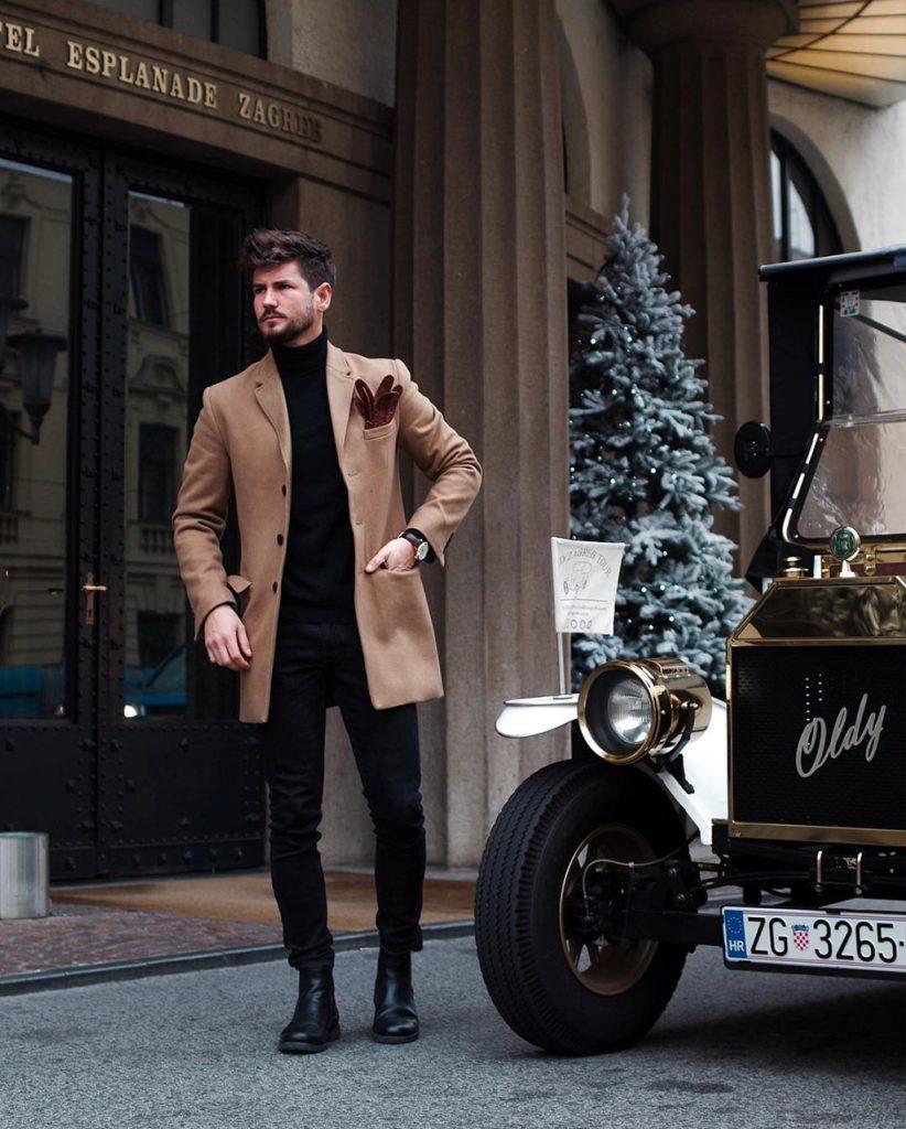 Moda para homens: casaco camelo