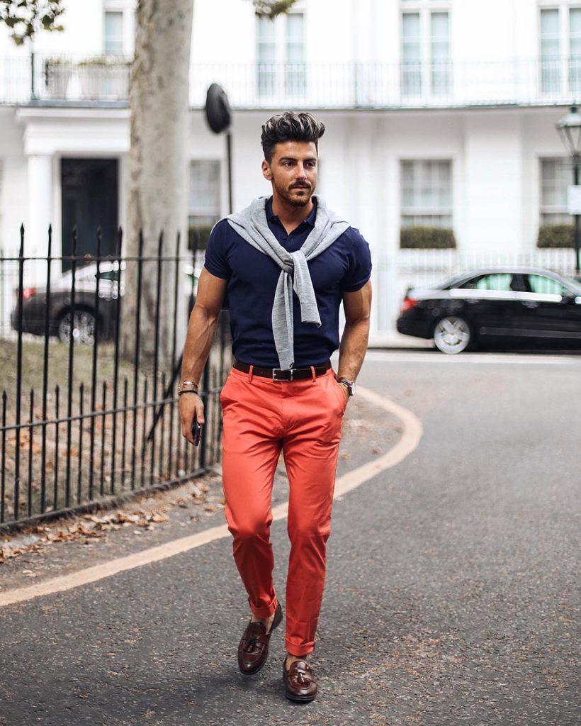 Outfit casual com camiseta polo