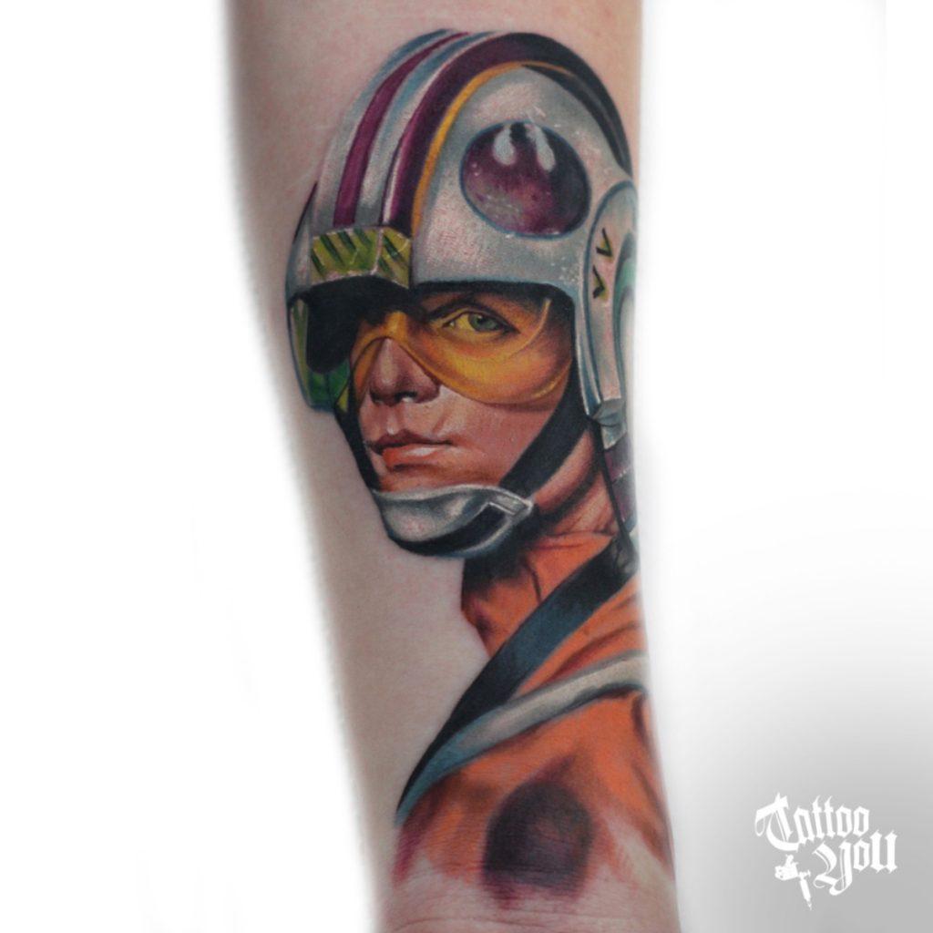 Luke Skywalker tattoo