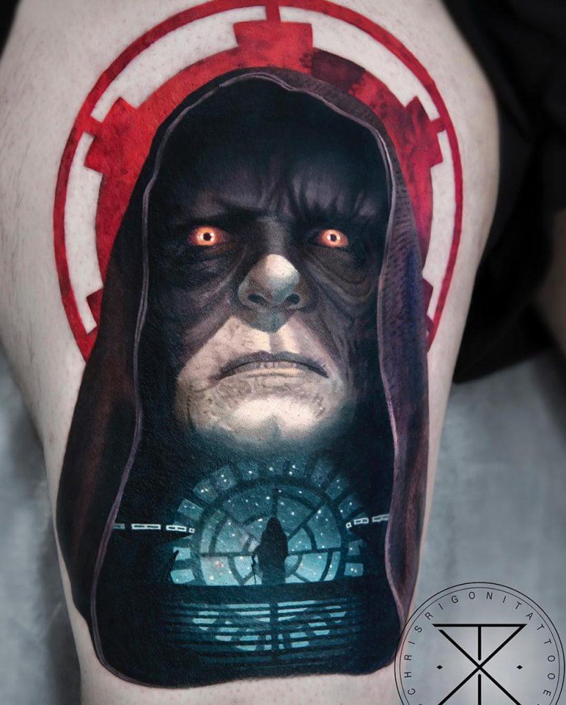 Darth Sidious Palpatine tattoo