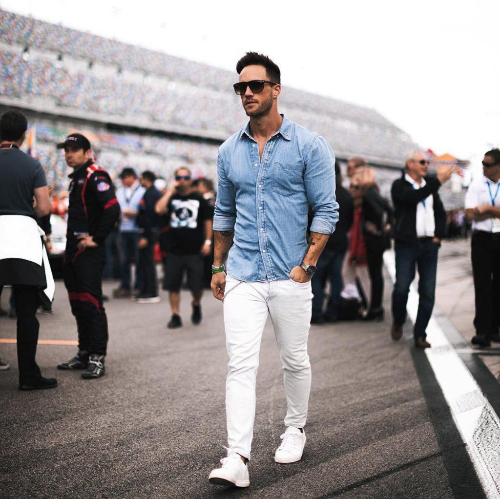 Dica de moda masculina: camisa em jeans