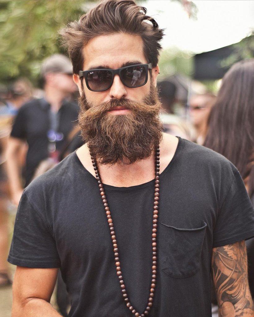Barba longa e volumosa Bandholz
