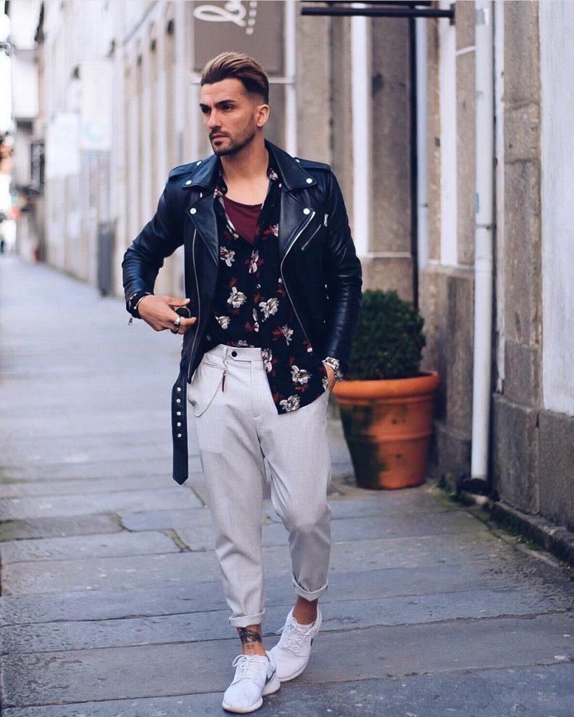 Outfit masculino fashionista com jaqueta Perfecto