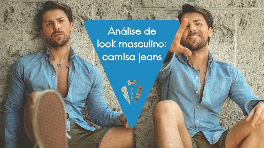 Análise de look masculino 12 camisa jeans