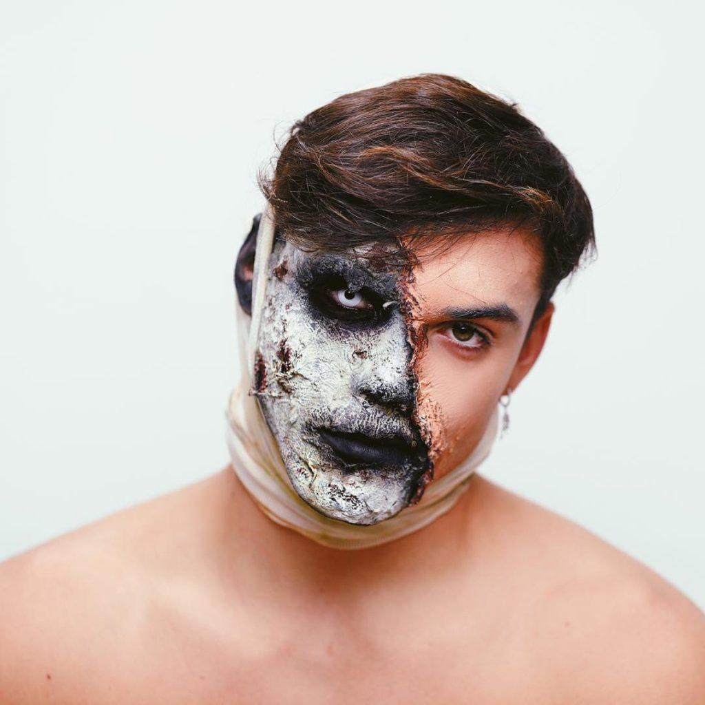 Grayson Dolan zombie make up