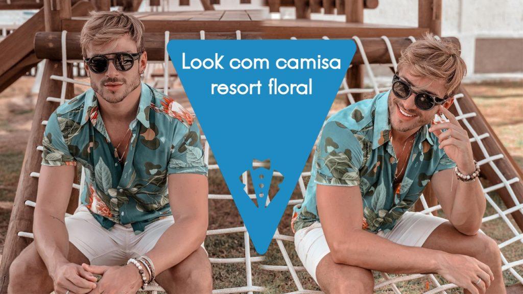 Look masculino com camisa resort