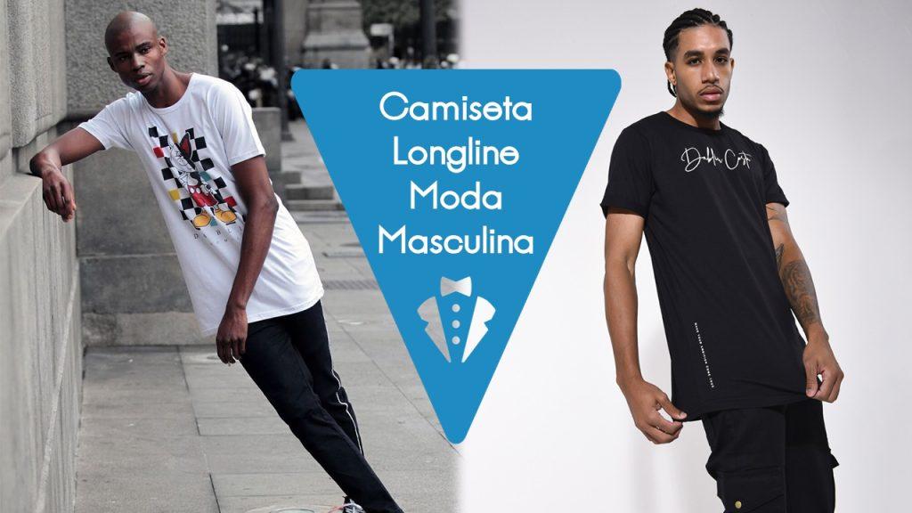 Camisetas longline masculina