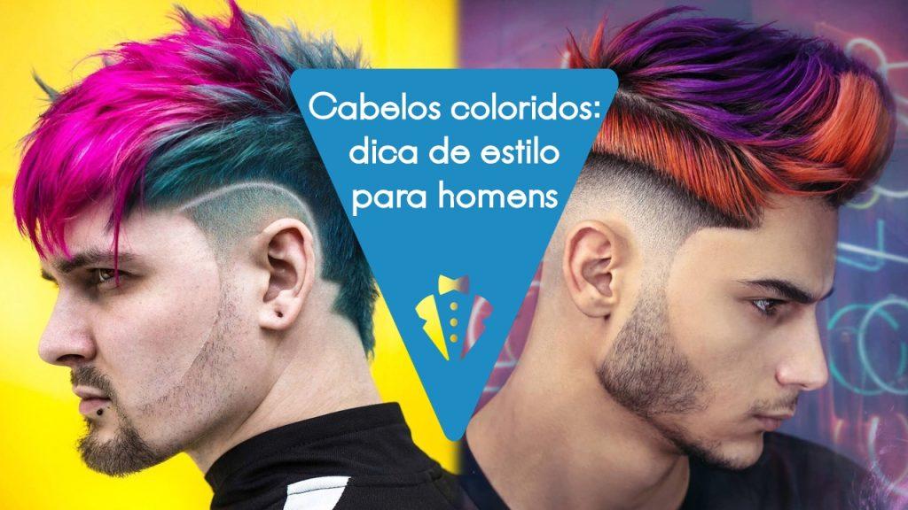 Dicas de cabelo colorido masculino