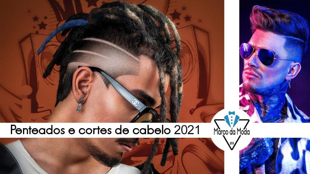 Penteados masculinos e cortes de cabelo 2021